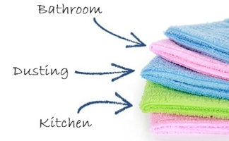 Different cleaning cloths for different purposes